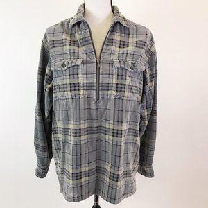 Eddie Bauer Soft  Plaid  Pullover Top S
